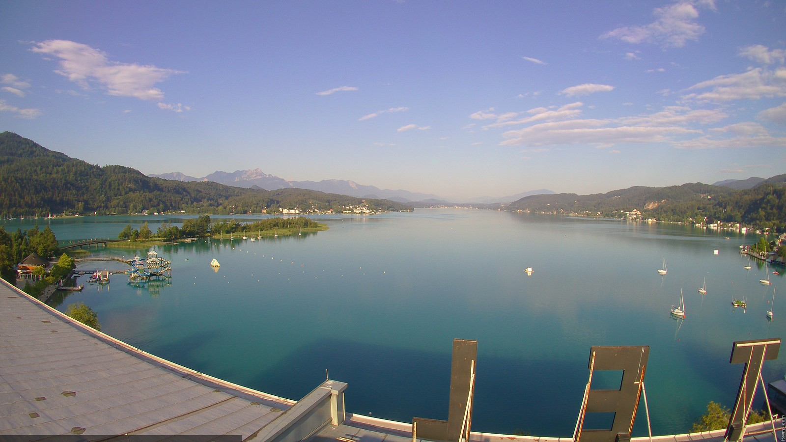 Panorama Webcam Parkhotel Pörtschach Wörthersee